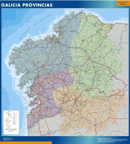 Mapa Galicia provincias gigante