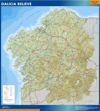 Mapa Galicia relieve gigante