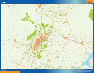 Mapa Gap en Francia gigante