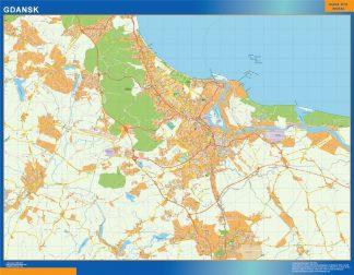 Mapa Gdansk Polonia gigante
