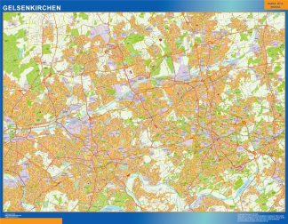 Mapa Gelsenkirchen en Alemania gigante