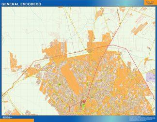 Mapa General Escobedo en Mexico gigante