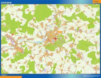 Mapa Giessen en Alemania gigante