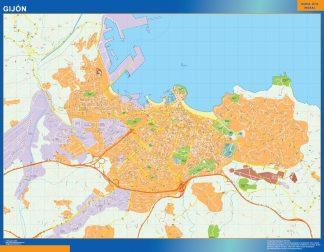 Mapa Gijon callejero gigante
