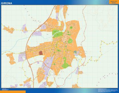 Mapa Girona callejero gigante