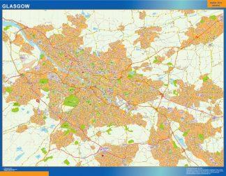 Mapa Glasgow gigante