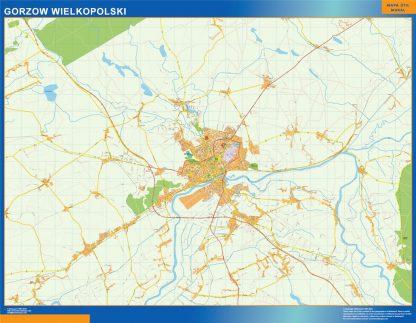 Mapa Gorzow Wielkopolski Polonia gigante