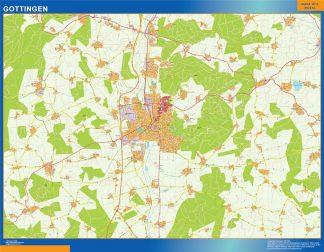 Mapa Gottingen en Alemania gigante