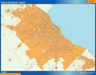 Mapa Gran Buenos Aires en Argentina gigante