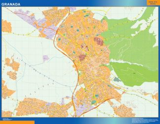 Mapa Granada callejero gigante