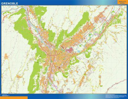 Mapa Grenoble en Francia gigante