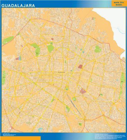 Mapa Guadalajara Centro en Mexico gigante