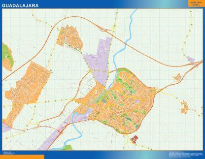 Mapa Guadalajara callejero gigante