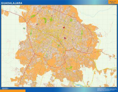 Mapa Guadalajara en Mexico gigante