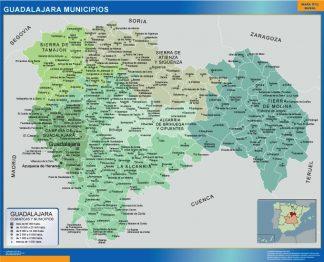 Mapa Guadalajara por municipios gigante