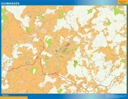 Mapa Guimaraes en Portugal gigante