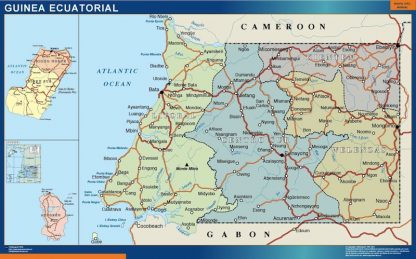 Mapa Guinea Ecuatorial gigante