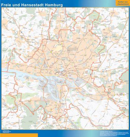 Mapa Hamburgo gigante