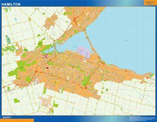 Mapa Hamilton en Canada gigante