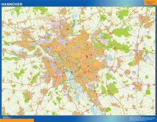 Mapa Hannover en Alemania gigante