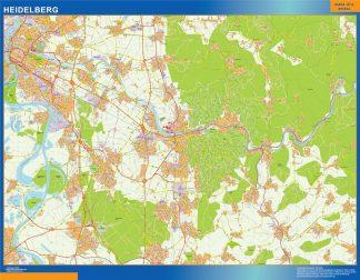 Mapa Heidelberg en Alemania gigante