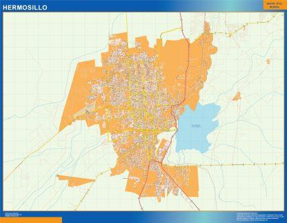 Mapa Hermosillo en Mexico gigante