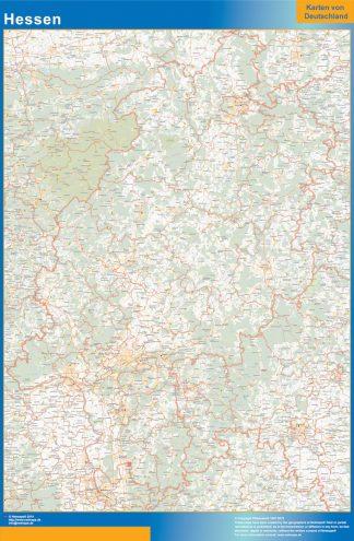Mapa Hessen gigante