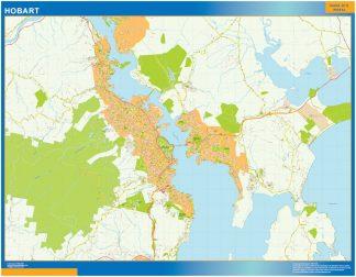 Mapa Hobart Australia gigante
