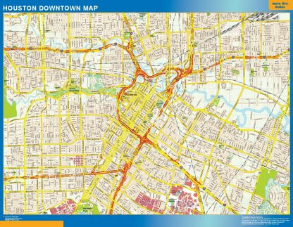 Mapa Houston downtown gigante