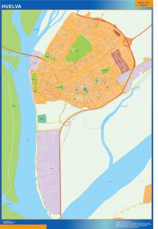 Mapa Huelva callejero gigante