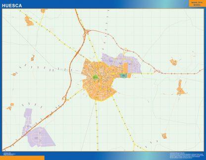 Mapa Huesca callejero gigante