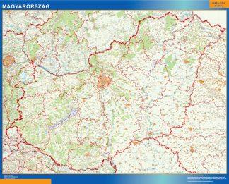 Mapa Hungria gigante