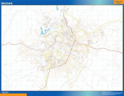 Mapa Ibadan en Nigeria gigante