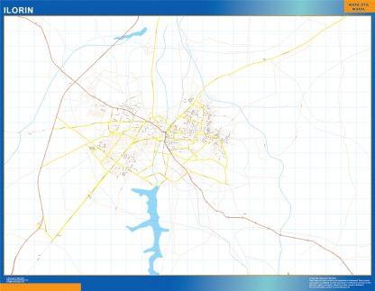 Mapa Ilorin en Nigeria gigante