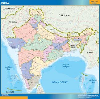 Mapa India gigante