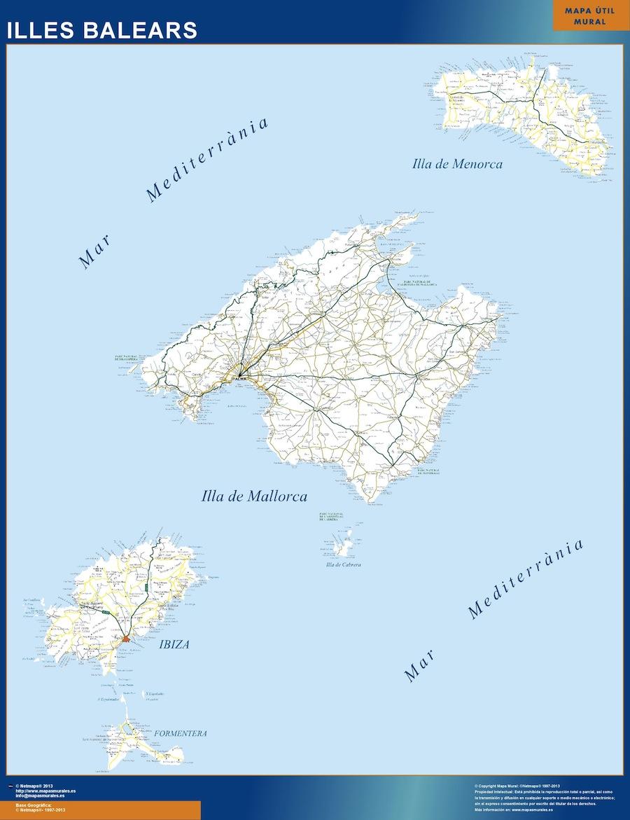 Mapa Islas Baleares Carreteras Grande Mapasmurales Com