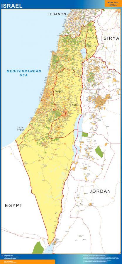 Mapa Israel gigante