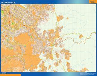 Mapa Ixtapaluca en Mexico gigante