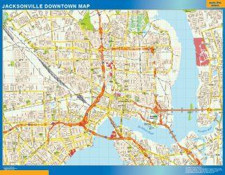 Mapa Jacksonville downtown gigante