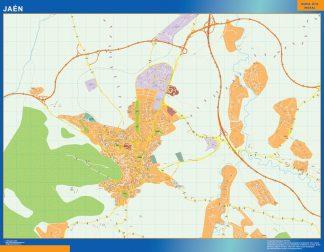 Mapa Jaen callejero gigante