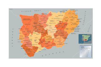 Mapa Jaen por municipios gigante