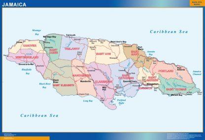 Mapa Jamaica gigante
