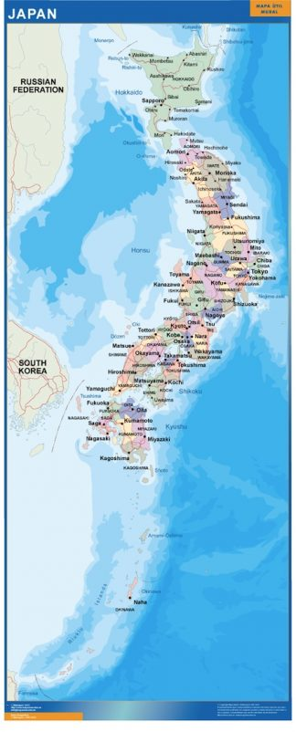 Mapa Japon gigante