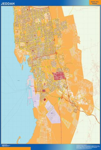 Mapa Jeddah en Arabia Saudita gigante
