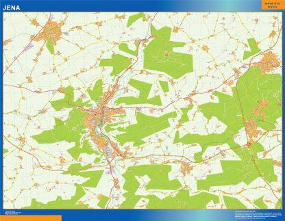 Mapa Jena en Alemania gigante