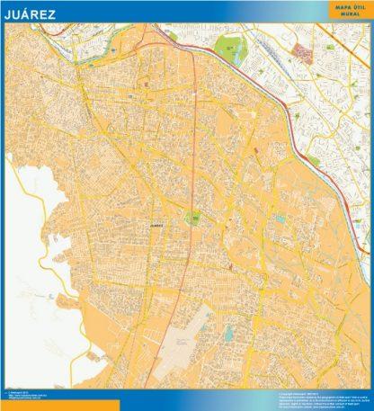 Mapa Juarez Centro en Mexico gigante