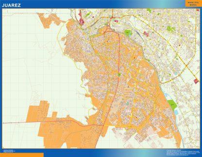 Mapa Juarez en Mexico gigante