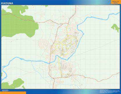 Mapa Kaduna en Nigeria gigante
