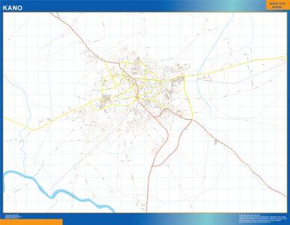 Mapa Kano en Nigeria gigante