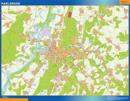 Mapa Karlsruhe en Alemania gigante